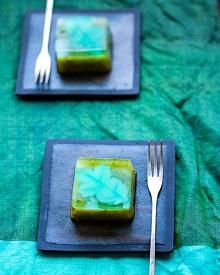 緑茶とミントの水羊羹